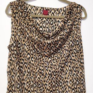 212 Collection Women's Leopard Print Tank Top Plus